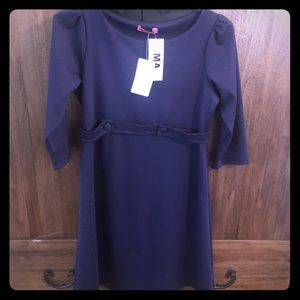 Cute navy maternity dress by Maternal America